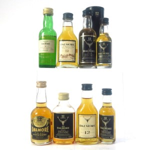 Dalmore Miniature Selection x 8 / Including 1963 Cadenhead's 30 Year Old