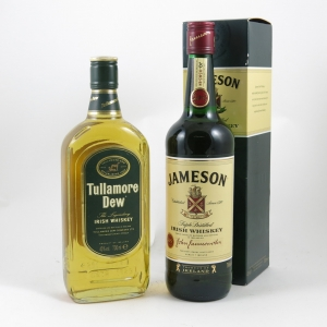 Tullamore Dew and Jameson 2 x 70cl front