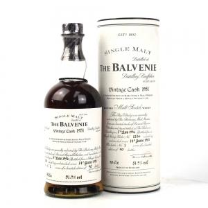 Balvenie 1951 Vintage Cask / Bottle No. 1 of 90