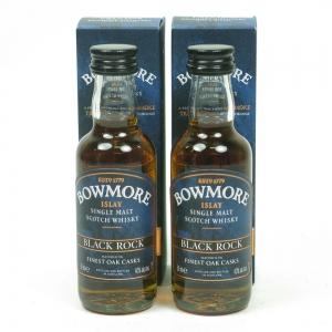 Bowmore Black Rock Miniatures 2 x 5cl