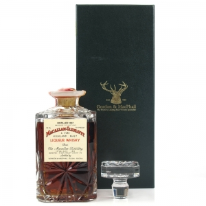 Macallan 1937 Gordon and MacPhail Crystal Decanter / Pinerolo Import