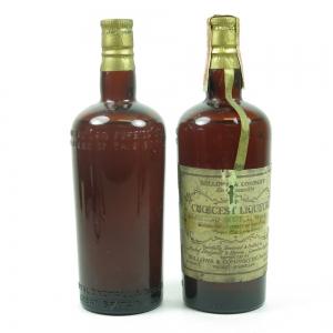 Bellows & Company Choicest Liqueur 1930s / 2 Bottles Front