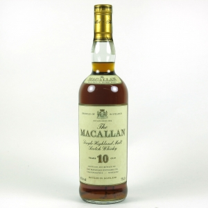 Macallan 10 Year Old 1980s Front