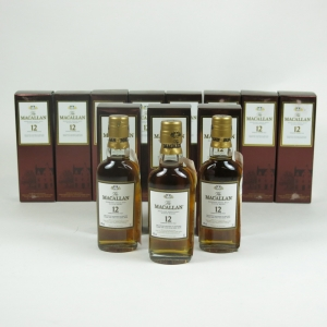 Macallan 12 Year Old Miniatures 5cl x 11 Front