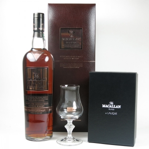 Macallan Oscuro with Lalique glass