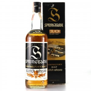 Springbank 10 Year Old Cask Strength 1980s