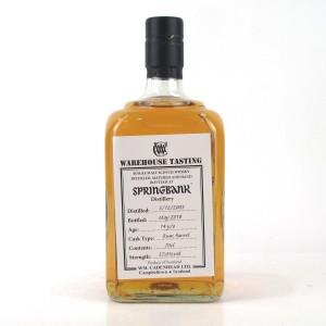 Springbank 2003 Single Rum Cask 14 Year Old / Warehouse Tasting
