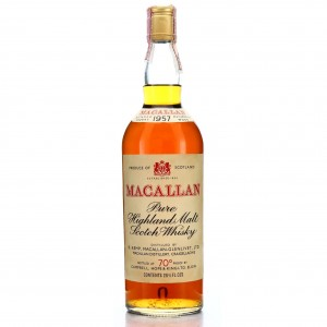 Macallan 1957 Campbell, Hope and King 70 Proof