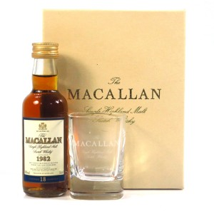 Macallan 1982 18 Year Old Miniature 5cl / with Glass