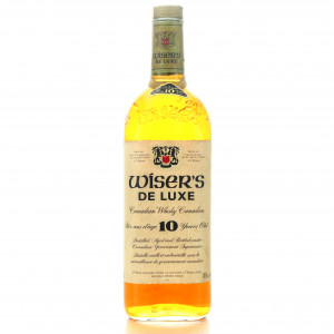 J.P. Wiser's De luxe 10 Year Old Canadian Whisky