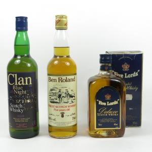 Miscellaneous Whiskies x 3