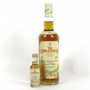 Edradour 10 Year Old 1990s 70cl and 5cl