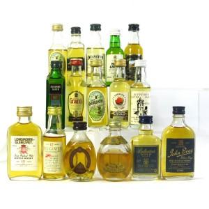 Miscellaneous Whisky Miniatures x 16