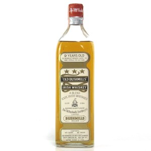 Bushmills 9 Year Old Irish Whiskey 1960s / US Import