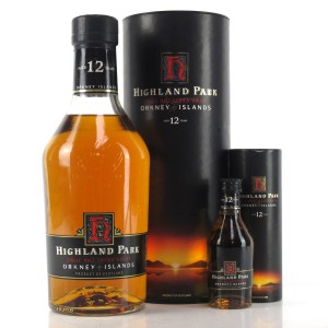 Highland Park 12 Year Old 1990s / With 5cl Miniature