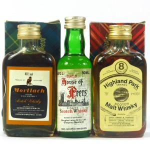 Scotch Whisky Selection 3 x Miniature