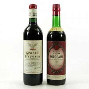 Chateu Maraux Ginestet & Latour Bordeaux 1971