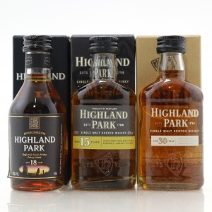 Highland Park Miniature Selection 3 x 5cl / Includes 30 Year Old