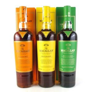 Macallan Edition No.2-4 Collection 3 x 70cl