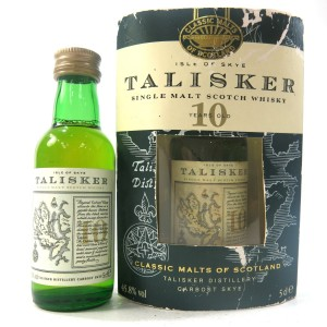 Talisker 10 Year Old Map Label Miniatures 2 x 5cl