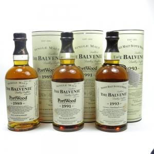 Balvenie Port Wood Finish Collection 1993 / 1991 / 1989 Front