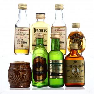 Whisky & Brandy Miniatures x 8