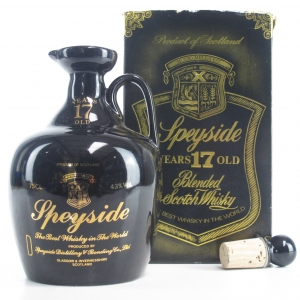Speyside 17 Year Old Blended Scotch Whisky Decanter / 1980s