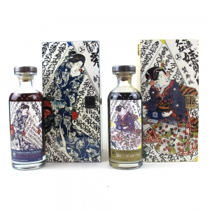 Karuizawa 1974 40 Year Old Cask # 3626 and #4560 / Gold and Blue Geisha 2 x 70cl