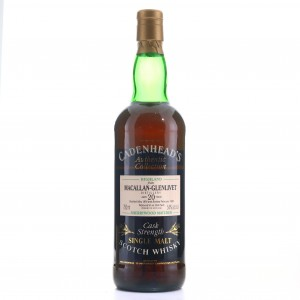 Macallan 1974 Cadenhead's 20 Year Old Sherry Wood 75cl / US Import