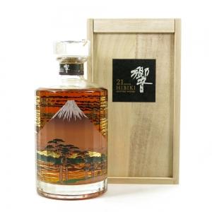 Hibiki 21 Year Old Mount Fuji Wooden Box