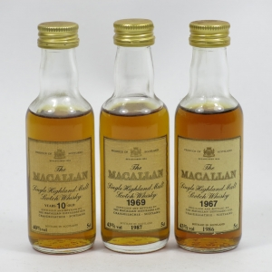 Macallan Miniature Selection (Including 1967 and 1969)