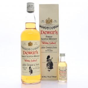 Dewar's White Label 1980s / with Miniature 5cl