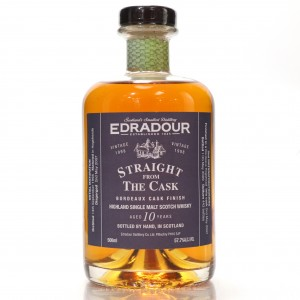Edradour 1998 Straight From The Cask 10 Year Old / Bordeaux Finish