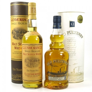 Glenmorangie 10 Year Old & Old Pulteney 12 Year Old 2 x 70cl