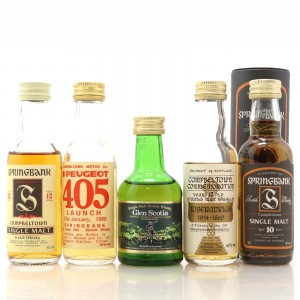 Campbeltown Miniature Selection 5 x 5cl / including Springbank 12 Year Old Red Thistle