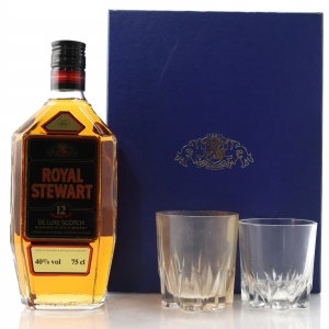 Royal Stewart 12 Year Old 1980s Gift Set / Including 2 x Tumblers