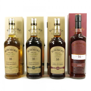 Bowmore 16 Year Old Cask Finish Selection 4 x 70cl