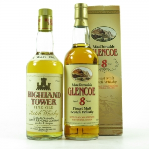 Glencoe 8 Year Old and Highland Tower 5 Year Old 2 x 70cl