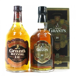 Grant's 12 Year Old 75cl and 18 Year Old 70cl