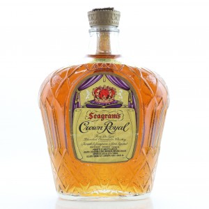 Seagram's Crown Royal Canadian Whisky 1980s