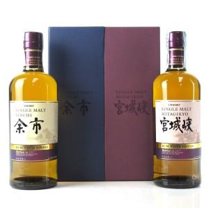 Yoichi and Miyagikyo Rum Wood Finish 2 x 70cl / Velier 70th Anniversary
