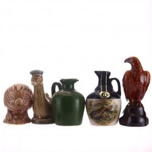 Blended Whisky Ceramic Miniature x 5