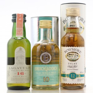 Miscellaneous Islay Miniature Selection 3 x 5cl / Includes Lagavulin White Horse