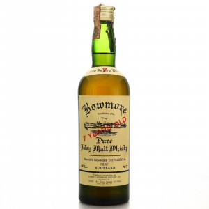 Bowmore 7 Year Old Sherriff's 1960s / Cogis Import