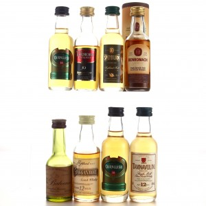 Speyside Miniatures x 8 including Balvenie 10 Year Old Founders Reserve