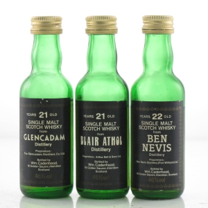 Cadenhead's Miniature Selection x 3 / including Ben Nevis 22 Year Old