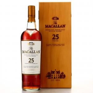 Macallan 25 Year Old Sherry Oak pre-2018 75cl / US Import