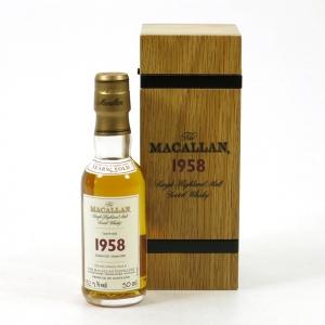 Macallan 1958 Fine and Rare Miniature 5cl