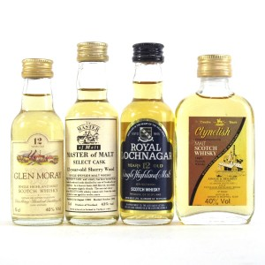 Highland Miniature Selection x 4 / Including Clynelish 12 Year Old