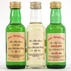 Speyside James MacArthur Miniatures 3 x 5cl